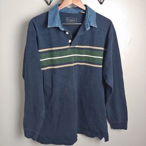 Haggar vintage 90s striped long sleeve shirt